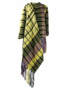 Marni oversized plaid coat - Yellow