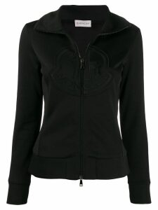 Moncler zip-up logo sweatshirt - Black