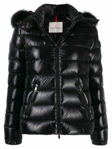 Moncler fur-trimmed hood jacket - Black