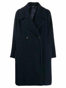 Aspesi double breasted wool coat - Blue