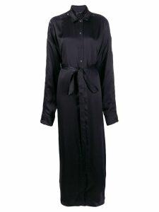 Y/Project tie waist shirt dress - Black