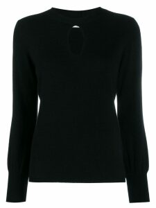 Allude key-hole neckline knitted top - Black