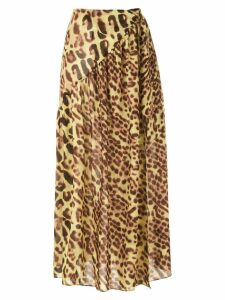 Adriana Degreas animal print beach skirt - Multicolour