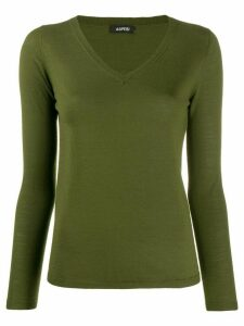 Aspesi fine knit v-neck jumper - Green