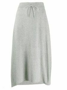 Fabiana Filippi knitted a-line skirt - Grey