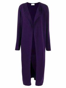 Allude open front cardi-coat - Purple
