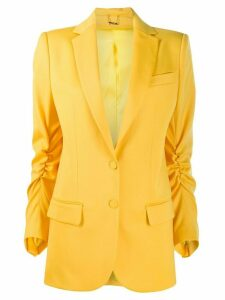 Styland ruched blazer - Yellow