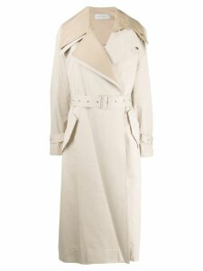 Low Classic layered belted trenchcoat - Neutrals