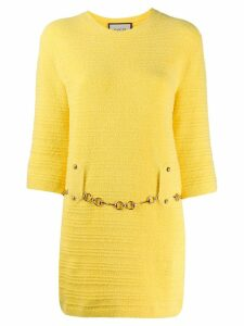 Gucci tweed belted dress - Yellow