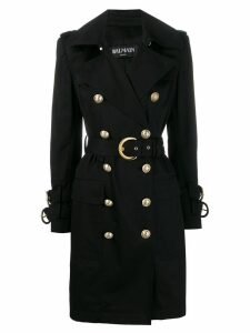 Balmain double-breasted trench coat - Black