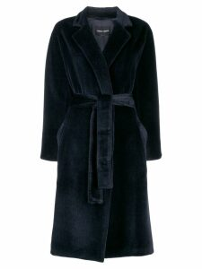 Giorgio Armani belted coat - Blue