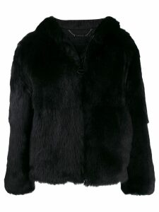 Givenchy oversized shearling coat - Black