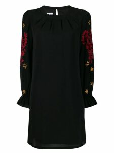Moschino mythological embroidered shift dress - Black
