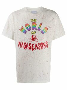 Nasaseasons rainbow logo print T-shirt - White