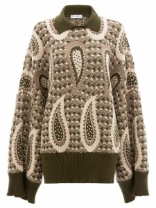 JW Anderson PAISLEY LONG SLEEVE JUMPER - Red