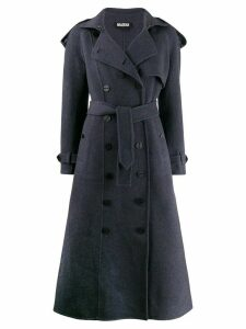 Miaoran double breasted coat - Blue