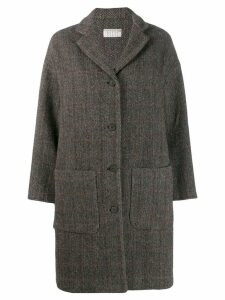 Kiltie single-breasted coat - Grey