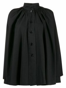 Lemaire flared mandarin collar shirt - Black