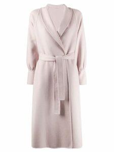L'Autre Chose belted wrap coat - Pink