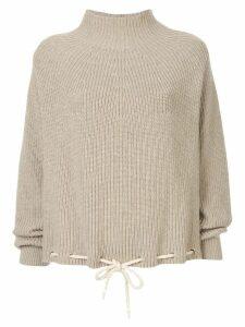 Bassike drawstring hem sweater - Brown