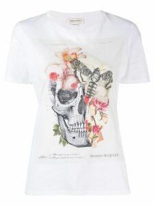 Alexander McQueen flora and skull print T-shirt - White