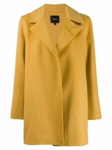 Theory single breasted short coat - Yellow