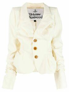 Vivienne Westwood ruched button jacket - Neutrals