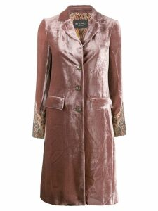 Etro velvet button coat - Pink