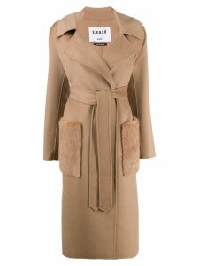 S.W.O.R.D 6.6.44 belted wrap coat - Neutrals