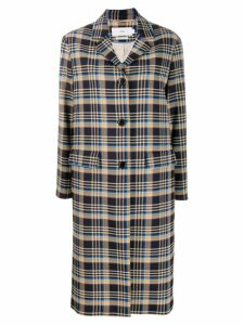 Closed check midi coat - Blue