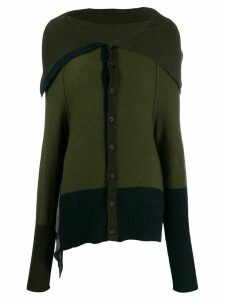 Y's spread collar cardigan - Green