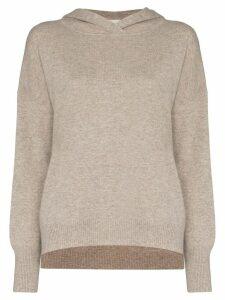 Le Kasha Riga hooded cashmere jumper - Brown