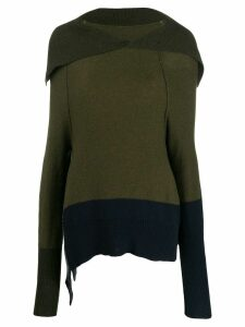 Y's spread collar jumper - Green