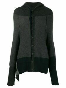 Y's hooded knit cardigan - Grey