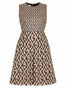 Gucci G Rhombus logo printed dress - Brown