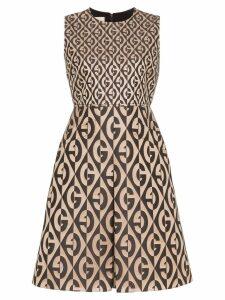 Gucci G Rhombus logo printed dress - Brown