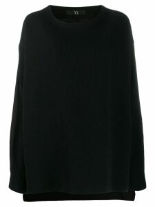 Y's round neck jumper - Black