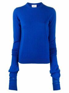 Coperni elongated-sleeve pullover - Blue