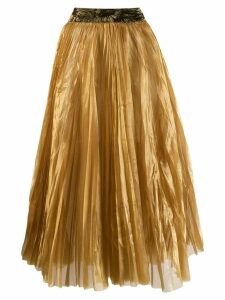 Forte Forte pleated flared skirt - Gold