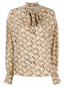 Sandro Paris cowboy boot print shirt - Neutrals
