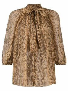 Zimmermann Espionage fluted blouse - Brown