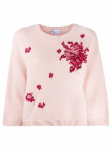 Red Valentino RED Valentino floral detail jumper - Pink