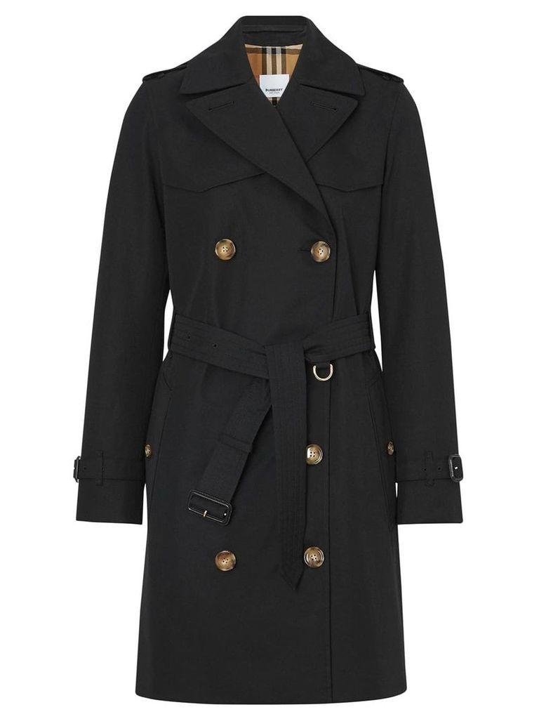 Burberry Cotton Gabardine Trench Coat - Black
