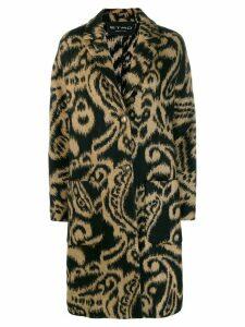 Etro paisley patterned coat - Black