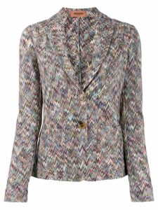 Missoni chevron knitted blazer - Blue