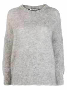 Tsumori Chisato two-tone crew neck jumper - Grey