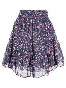 Isabel Marant Étoile floral print mini skirt - Purple