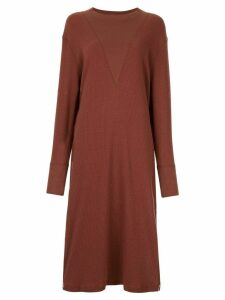 G.V.G.V. side slit dress - Brown