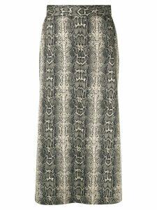 G.V.G.V. jersey flared skirt - Multicolour