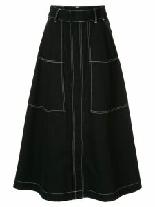 G.V.G.V. contrasting stitch skirt - Black